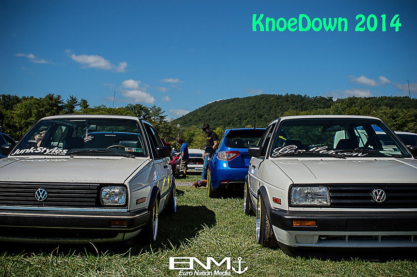 Mk1 white Volkswagen Rabbit with shaved engine bay and a VR motor.  Sitting in the Top Dog Competition at V.A.G. Fair 2014.