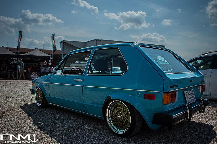 mk1 baby blue Volkswagen Rabbit. Top Dog Competition. V.A.G. Fair 2014