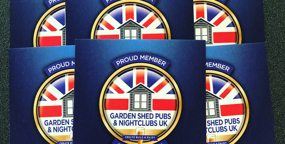 Official 'proud member' card beer mats, pack of 8