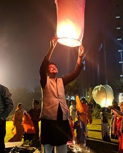Lighting up the sky, Happy Diwali 🎆