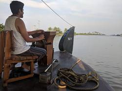 Cruising in Kerala backwaters