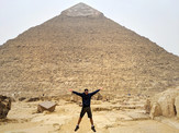 at the pyramids egypt