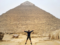 Excited at The Pyramids