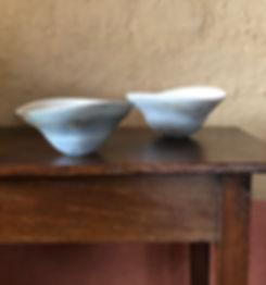 5a.Porcelain bowls with woodash glaze 20