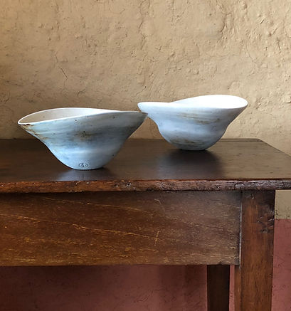 5a.Porcelain bowls with woodash glaze 20
