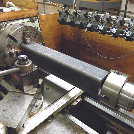 Machining mild steel square bar