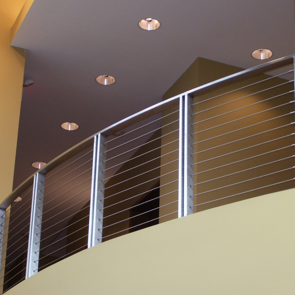 Indoor stainless steel balustrade