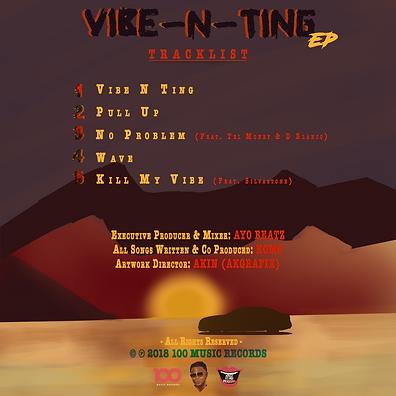 Komo - Vibe N Ting (Back Tracklist)