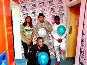 Komo with the Afrobeats Takeover Team at The Beat London