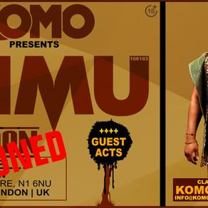 POSTPONED: IDIMU London Show Postponed Due To Covid-19