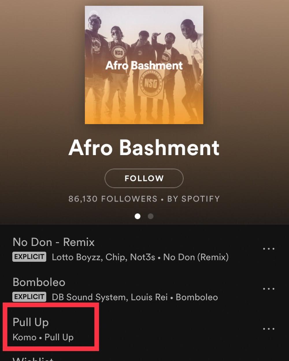 Spotify Afro Bashment (Featuring Komo)
