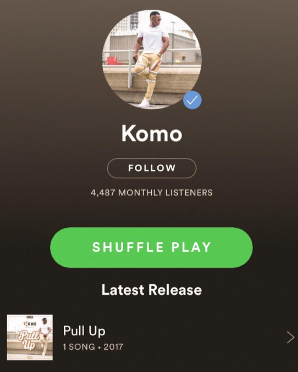 Komo Spotify Artist Page