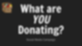 What are YOU Donating_ Social Media Plan