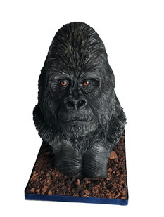 Sculpted Gorilla Bust Cake