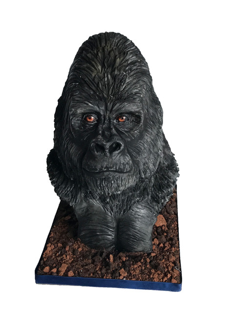 Sculpted Gorilla Bust Cake £250