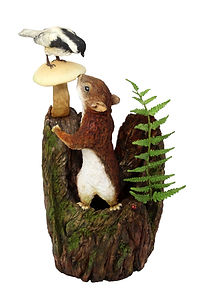 Cyril the squirrel and Mr Bird by Dragons and daffodils cakes