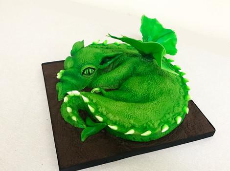 Sculpted dragon