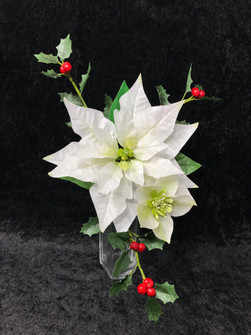 Wafer paper christmas flowers