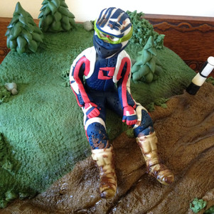 Themed cake with figure £120