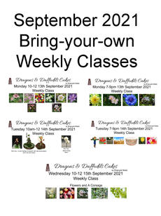 Bring-your-own Weekly September classes