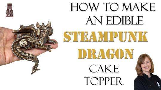 Steampunk Dragon cake topper