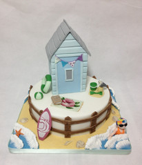 Tiered Beach hut cake £250