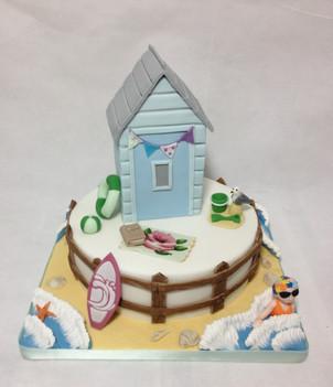 Tiered Beach hut cake £250