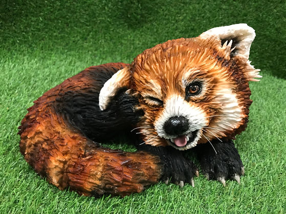 Pabu the Red Panda class subject by Rhianydd Webb Dragons and Daffodils Cakes