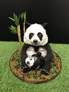 Panda and baby