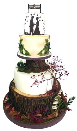 Woodland Wedding cake gold medal