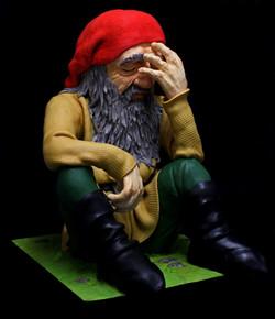 Thoughtful the Dwarf sculpture