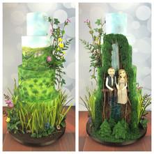 Luxury bespoke double sided wedding cake