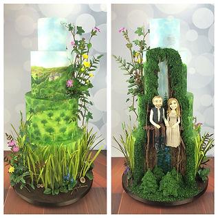 Rhianydd & Adrian's wedding cake