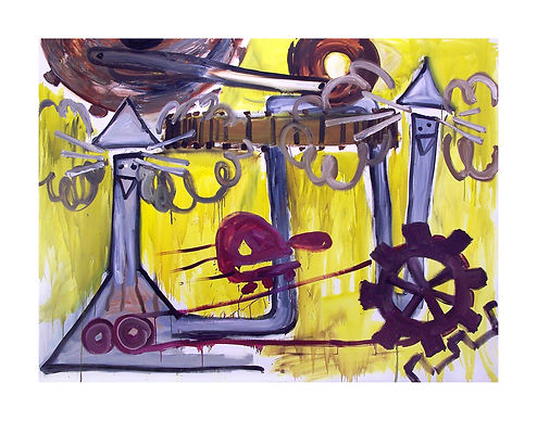 Puff-&-Blow,-2009,-Oil-on-canvas,-240cm-