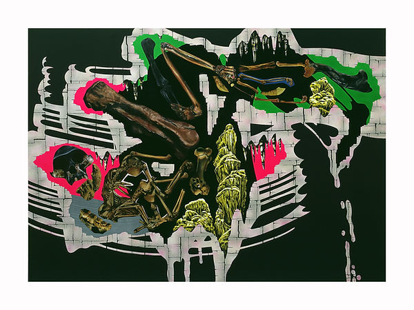 Pop-Tomb,-2002,-Oil,-acrylic-on-canvas,-