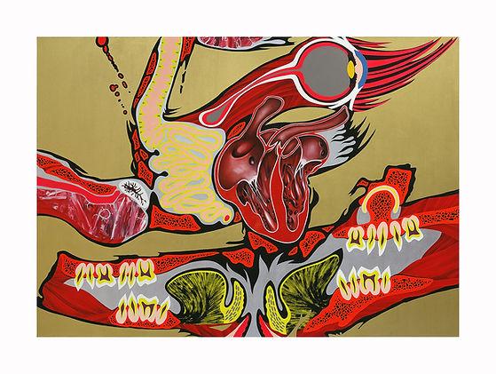 Frankenstein-not-Lichtenstein,-2002,-Oil
