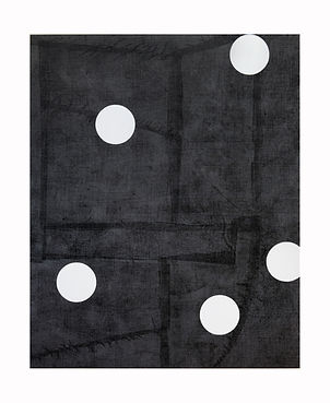 Five-White-Circles,-2012,-Acrylic,-block