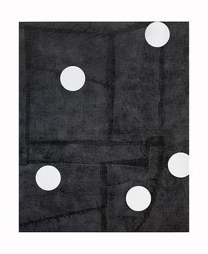 Five-White-Circles,-2012,-Acrylic,-block