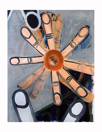 Finger-Wheel,-2009,-Oil-on-canvas,-178cm