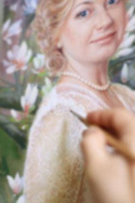 свадебный портрет фрагмент маслянная живопись