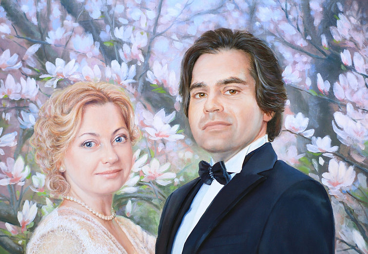 самый лучший портретист Москвы 100% сходство подарить портрет на свадьбу свадебный портрет фрагмент маслянная живопись