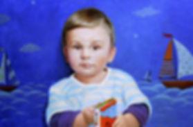 Детский портрет на заказ Портрет в подарок что подарить