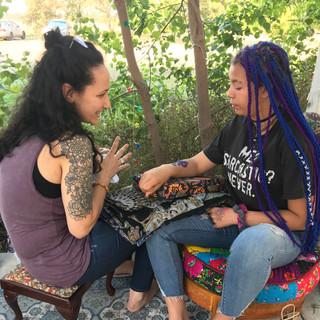 Jahzara and Charlotte Henna
