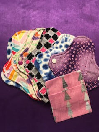 Pantyliner Kit  - (3) Cotton and (4) Minky Mix and Match