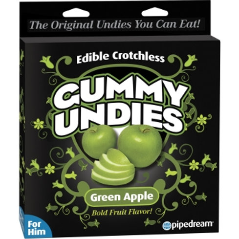 Edible Crotch Gummy Undies- Green Apple