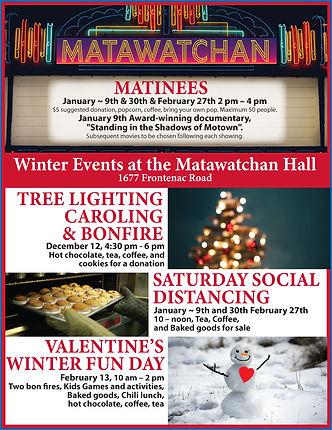 Matawatchan Hall Winter Events 2020-2021