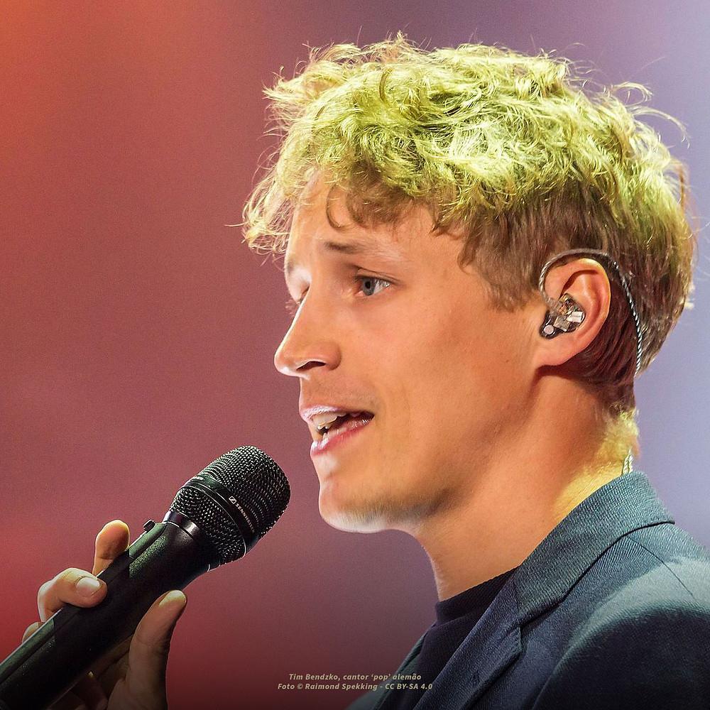 Fotografia de Tim Bendzko, cantor 'pop' alemão quem aceitou participar no estudo
