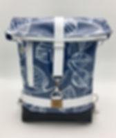 """Kombi Bag """"Carmen"""" Blätter Im Blau"""