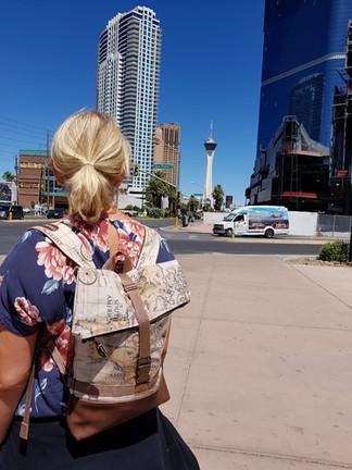 """Tami mit ihrem Backpack """"Jonas"""" in den USA"""