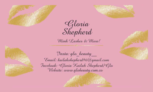Gloria Lashes Business Card